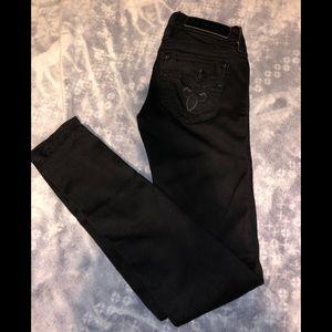 Rock revival black skinny jeans